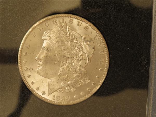 US 1884 Carson City Morgan Silver Dollar Coin #84755149