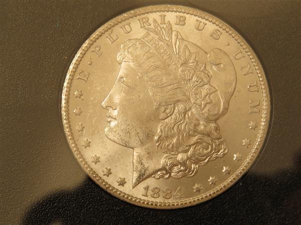 US 1884 Carson City Morgan Silver Dollar Coin #84755476