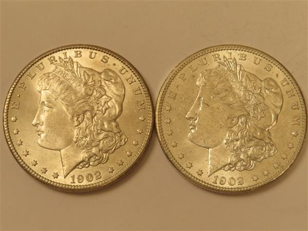 US 1902 O Morgan Silver Dollar Coin Lot of 2