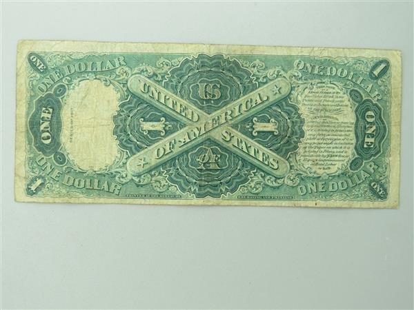 US 1917 Legal Tender Red Seal One Dollar Bill Note - 2
