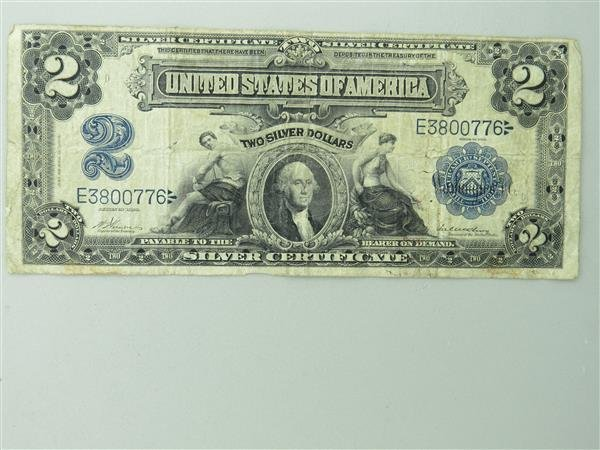 US 1899 Silver Certificate Two Dollar Bill