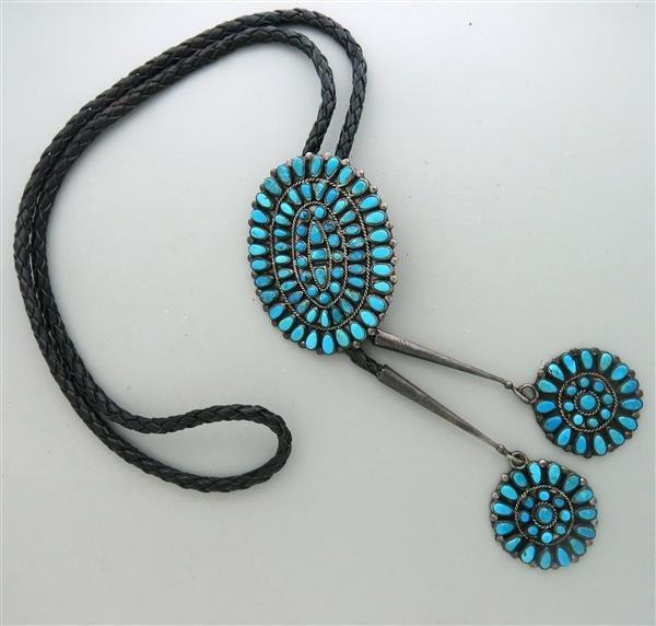 Native American Navajo Bennett Sterling Turquoise
