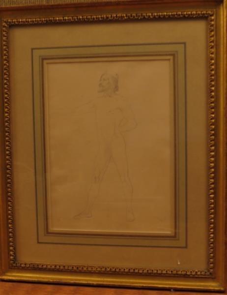 Eastman Johnson (1824-1906) Figure Study, 1851-55,