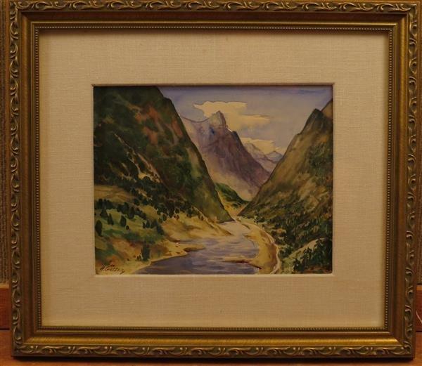Henry Martin Gasser (1909-1981) Mountain River