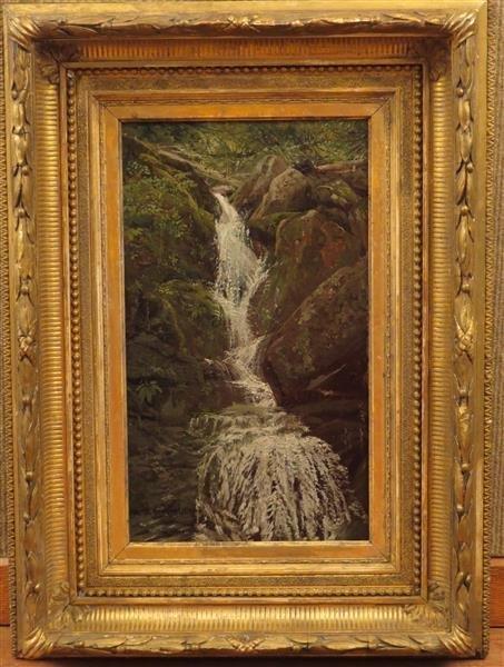 Aaron Draper Shattuck (1839-1928) Waterfall Cascading