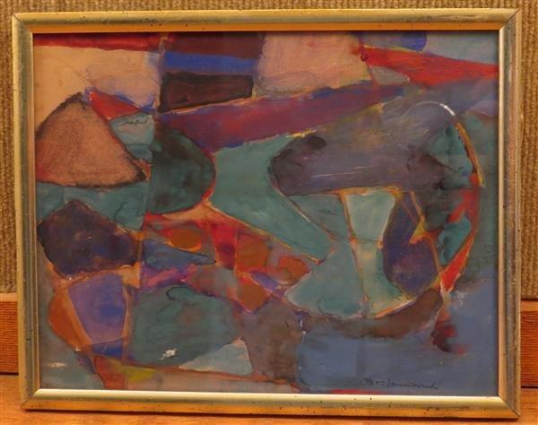 M.T.Janikowski Gouache Abstract