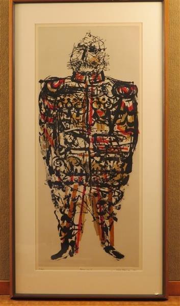 Misch Kohn (1916-2002), Baron Von Z, Etching on Paper