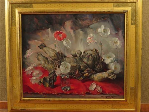 Arthur Meltzer (1893-1989) The Fallen Cherub Oil on
