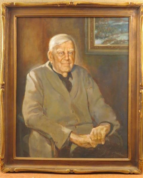 Floyd James Torbert, Redfield at 94, Oil on Canvas