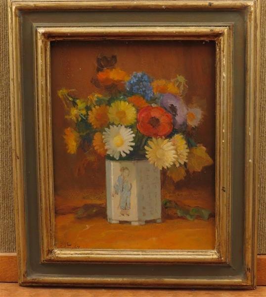 Arthur Bye (1885-1969) Oil on Canvas Still Life Flower