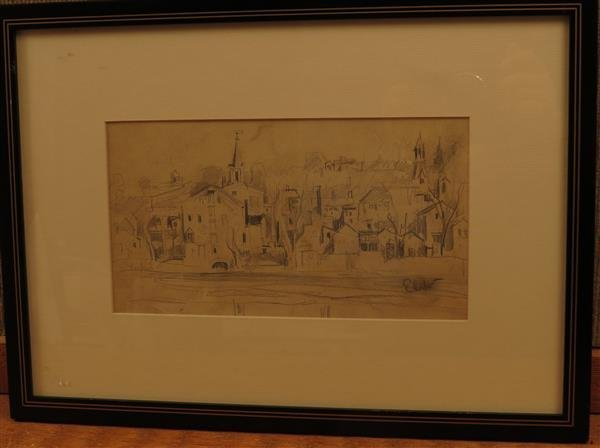 Earl Horter (1881-1940), Mod Urbanscape Etching on