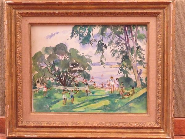 Martha Walter (1875 –  1976), Lanscape Watercolor