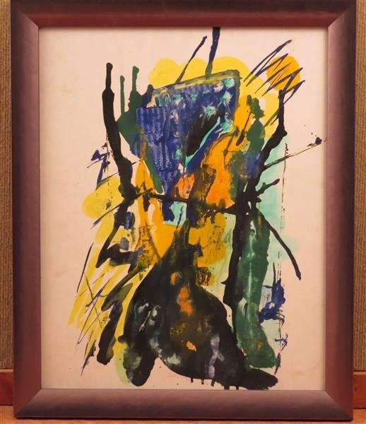 Joseph Meierhans (1890-1981), Abstract Watercolor