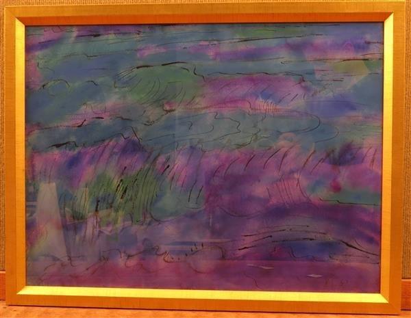Lloyd Raymond Ney (1893-1965) Abstract  Watercolor