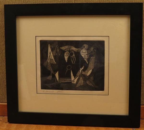 Tobias Musicant  (1921 - 2004)  Mezzotint, Etching on