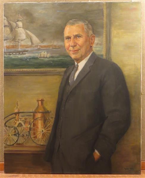 Agnes Oliver Allen, Bradford Smith Jr. Portrait, Oil on