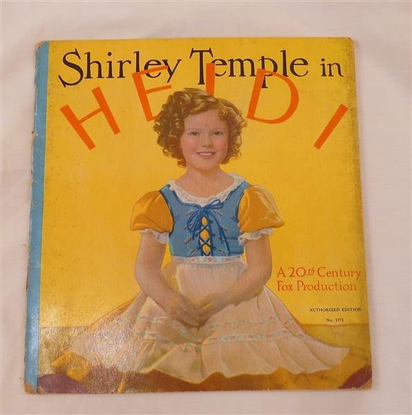 Heidi 1937 Book Edition
