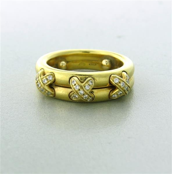 Estate Chaumet 18k Gold and Diamond Ring