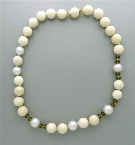 Trianon 18k Gold Mammoth South Sea Pearl Topaz Bead