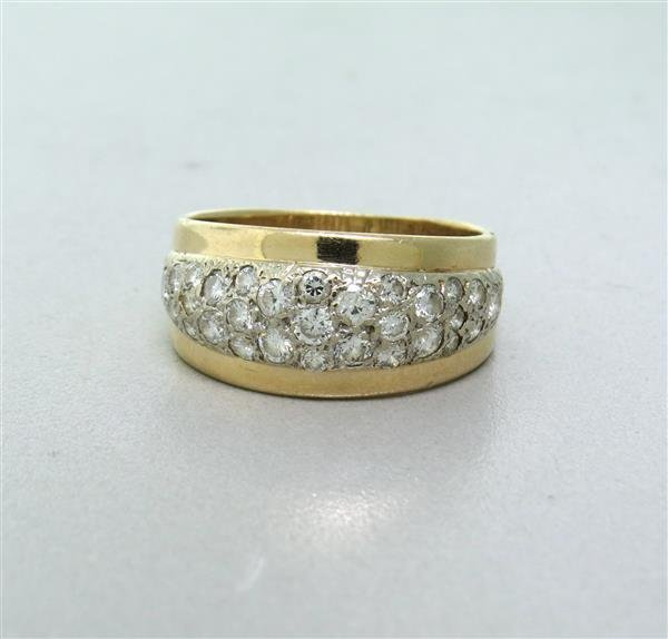 Vintage 14k Gold 1.20ctw Diamond Dome Band Ring