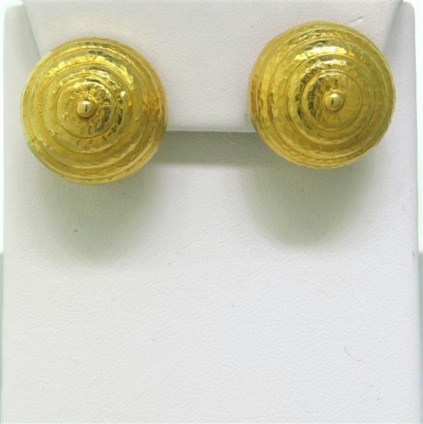 Ilias Lalaounis Greece 22k Gold Earrings