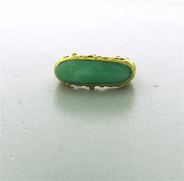Antique 22K Gold Jade Ring