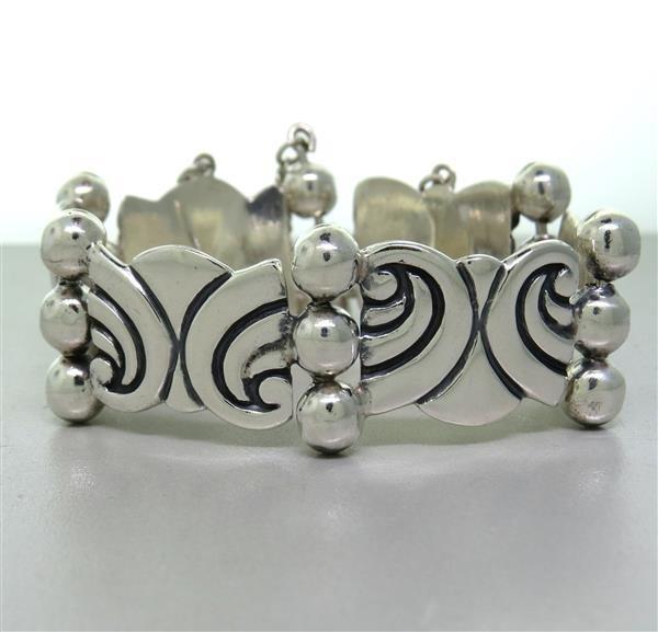 Taxco Mexican Sterling Bracelet Earrings Set