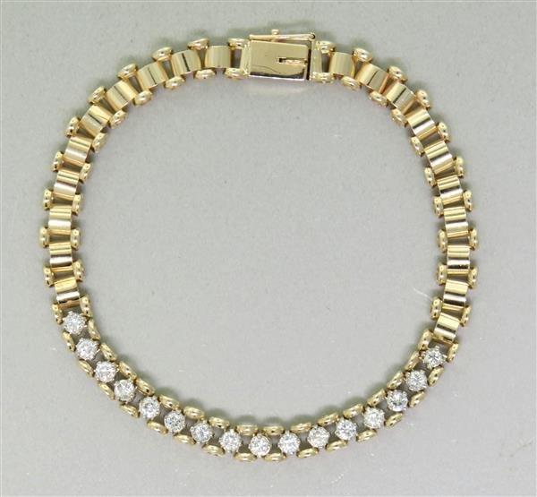 Vintage 14k Gold Diamond Bracelet
