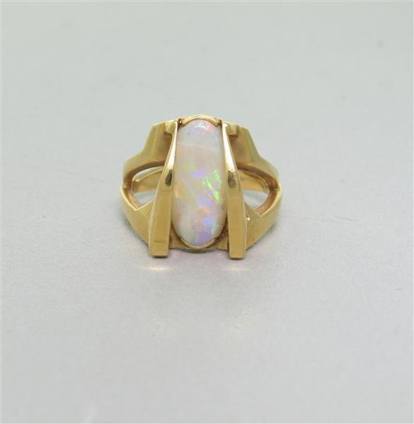 Vintage 14 Gold Opal Ring
