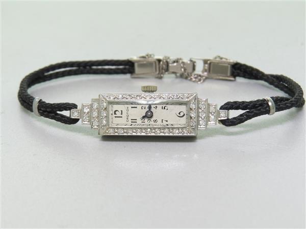 Croton Platinum Diamond Ladies Watch