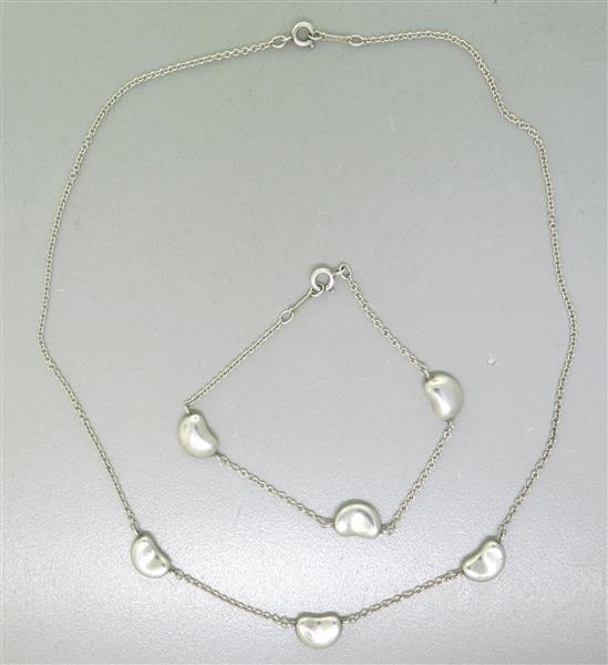 Tiffany & Co. Peretti Silver Bean Bracelet and