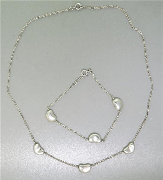 Tiffany & Co. Peretti Silver Bean Bracelet and - 2