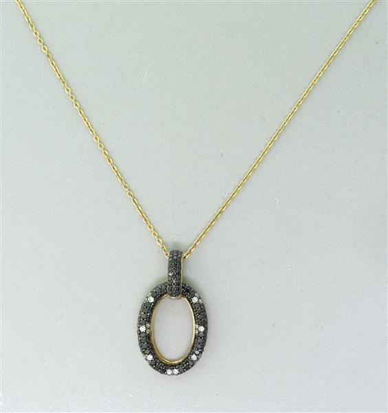 Raymond Hak Gold Plated Diamond Pendant Necklace