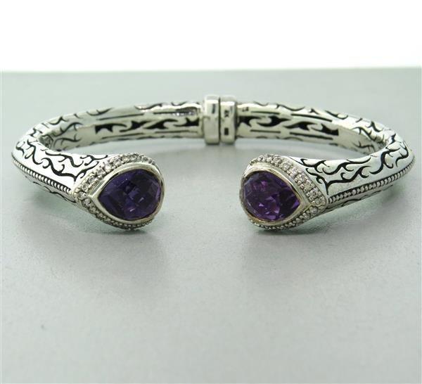 Scott Kay Sterling Amethyst Diamond Bracelet