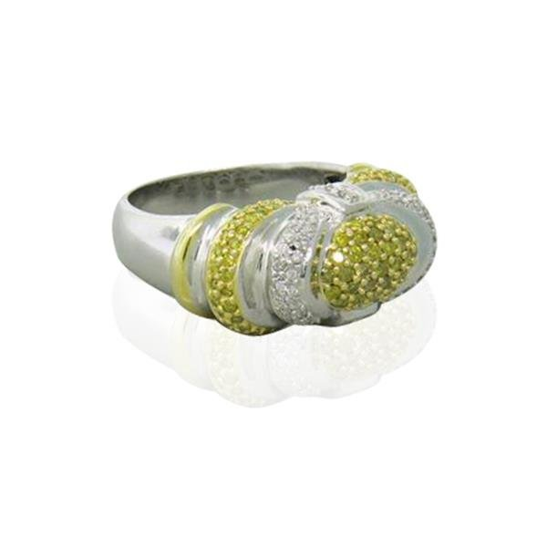 14k Gold Diamond Dome Ring