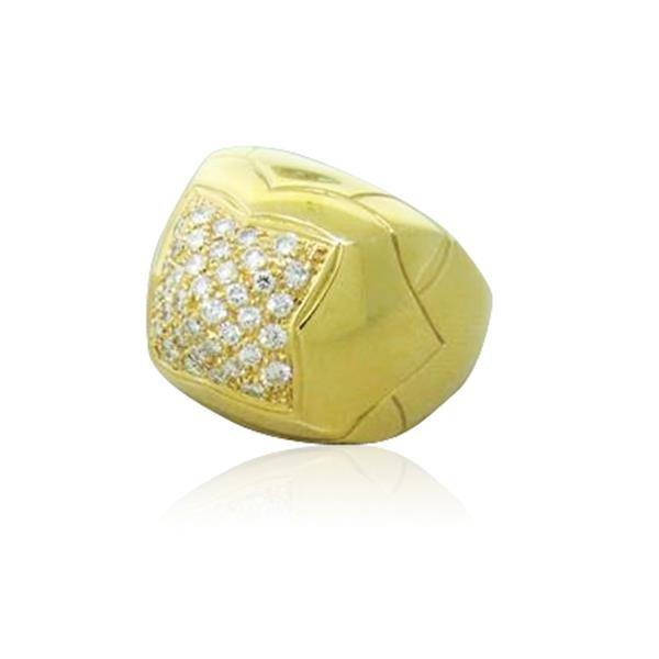 Bvlgari Bulgari Pyramide 18K Gold Diamond Ring