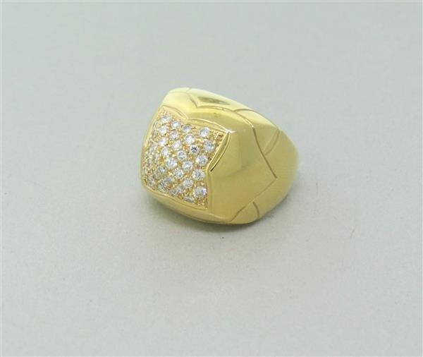 Bvlgari Bulgari Pyramide 18K Gold Diamond Ring - 2