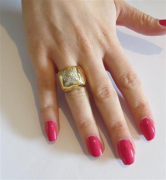 Bvlgari Bulgari Pyramide 18K Gold Diamond Ring - 7
