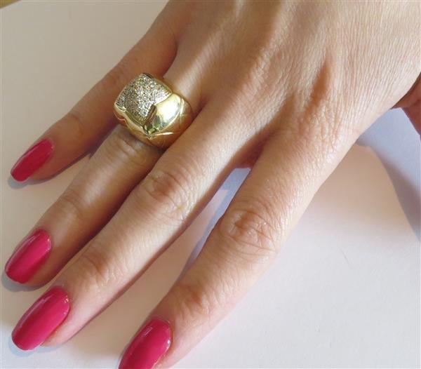 Bvlgari Bulgari Pyramide 18K Gold Diamond Ring - 8