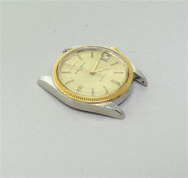 Baume & Mercier Gold Steel Baumatic Mens Watch - 2