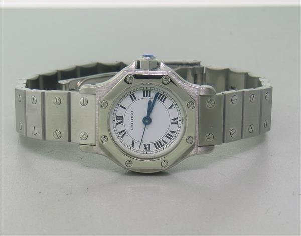 Cartier Santos Stailess Steel Hexagonal Automatic Watch