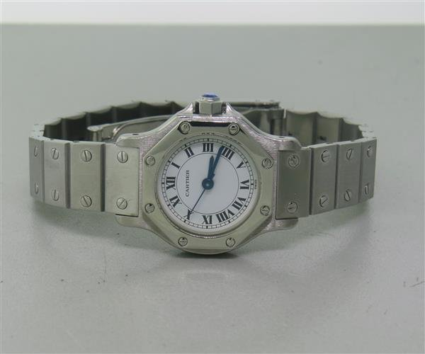 Cartier Santos Stailess Steel Hexagonal Automatic Watch - 2