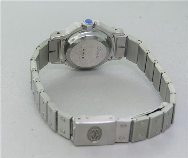 Cartier Santos Stailess Steel Hexagonal Automatic Watch - 4