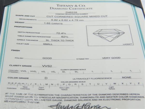 Tiffany & Co Lucida Platinum 1.65ct Diamond - 3