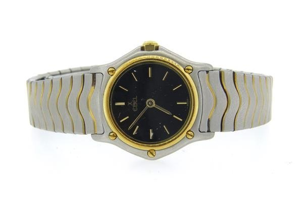 Ebel Wave 18k Gold Steel Ladies Watch