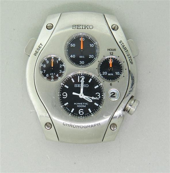 Seiko Kinetic Sportura Chronograph Watch