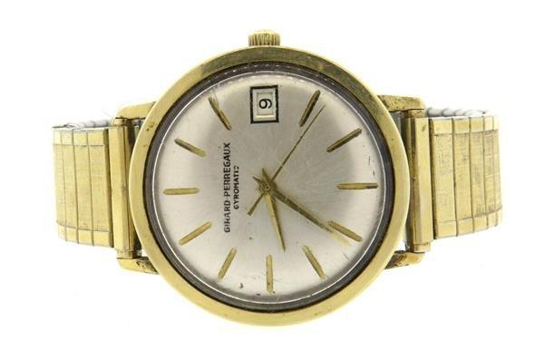 Girard Perregaux Steel and Gold Gyromatic Watch