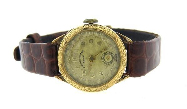 Chronometre Erax Swiss 18k Gold Watch