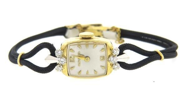 Movado 14k White Yellow Gold Diamond Watch