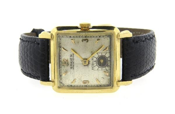 1950s Gruen 14k Gold Automatic Watch cal. 475